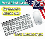 Apple Bluetooth Wireless Keyboard A1314 And Magic Mouse A1296 Set - Excellent Cond