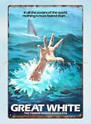 Great White Horror Sci Fi Movie Poster Metal Tin Sign Metal Wall Signs