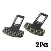 New 2x Seat Belt Control Buckle Clasp Insert Plug Eliminate Stop Alarm For Bmw