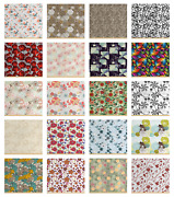 Ambesonne Floral Pastel Fabric By The Yard Decorative Upholstery Home Accents