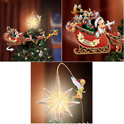 Disney Christmas Tree Top Ornament Mickey And Friends Rotating Sleigh Led Lights