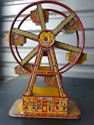 Authentic 1930s J Chein And Co Usa Hercules Tin Wind Up Toy Ferris Wheel