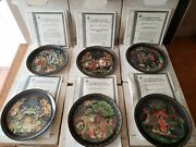 6 Pc Russian Legends Bradford Exchange Collector Plates 2, 3, 4, 5, 7 And 8 In Box