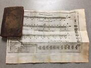 1790.francisco Campillo Signed Leather Army Book Mapswireless Pioneer Barcelona