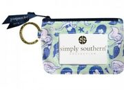 Nwt Simply Southern Keychain Id Case Holder / Wallet In Mermaid Pattern