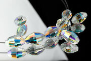 5200 6mm X 4mm Crystal Ab Faceted Oval Beads 72 Pcs, 360 Pcs