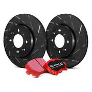 For Ford F-250 Super Duty 08-10 Brake Kit Ebc Stage 4 Signature Slotted Front