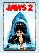 Jaws 2 American Thriller Film Movie Poster Metal Tin Sign Cheap Metal Signs