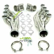 Turbo Exhaust Manifold Headers Ls1 Ls6 Lsx Gm V8 + Elbows T3 T4 To 3.0 V Band