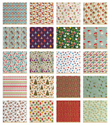 Ambesonne Christmas Print Fabric By The Yard Decorative Upholstery Home Accents