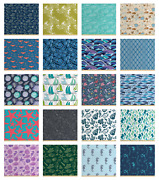 Ambesonne Nautical Theme Fabric By The Yard Decorative Upholstery Home Accents