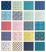 Ambesonne Nautical Print Fabric By The Yard Decorative Upholstery Home Accents