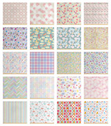 Ambesonne Pastel Fabric By The Yard Decorative Upholstery Home Accents