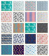 Ambesonne Fish Fabric By The Yard Decorative Upholstery Home Accents