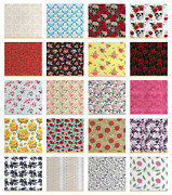 Ambesonne Rose Fabric By The Yard Decorative Upholstery Home Accents
