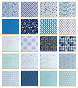 Ambesonne Blue Fabric By The Yard Decorative Upholstery Home Accents