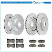 Ceramic Brake Pads And Rotors Front Rear For 2011 2012 2013 2014 Ford Mustang
