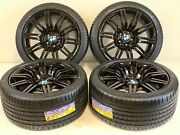 4 19 Sttagered Bmw Wheels Rims Tires M Spider 10 Double Spoke172 Black Factory