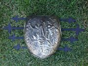 Vintage Midcentury Mingazzi Wrought Iron Wall Art Resin Carved Breastplate Armor