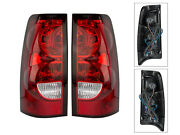 For 2004-07 Silverado 1500 2500 3500 Truck Tail Light Lamp With Bulb Lh Rh Pair