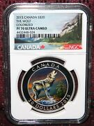 2015 Canada 20 The Howling Wolf Colored Silver Coin W/box Ngc Pf 70 Ultra Cameo