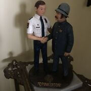 Pinkerton 150th Anniversary Poly-resin Advertising Statue Figurine Security 1999