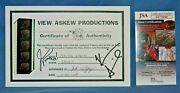 Autograph Kevin Smith And Jason Mewes Jay And Silent Bob Strike Back Film Cells Jsa