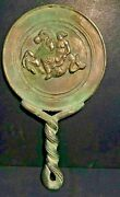 Old Ancient Roman Near Eastern Antiquities Antiques Bronze Mirror Collectable