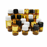 Wholesale 1/2/3/5ml Essential Oil Bottles Amber Glass Orifice Reducer With Cap