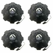 4 Fuel Black Wheel Center Hub Caps 4/5/6/7/8l D555 D576 D575 D588 D595 D621 D561