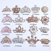 120pcs New Fashion Crown Rhinestone Buttons With Ivory Beads Crystal Silver
