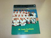 1988 St Louis Cardinals Baseball Yearbook With Some Autographs.
