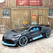 Bugatti Divo 118 Scale Highly Detailed Die-cast Model Collector Car Grey / Blue