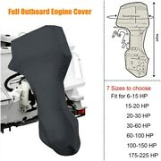 1boat Full Outboard Engine Cover Waterproof 600d For 6 - 225hp Motor Dust Proof