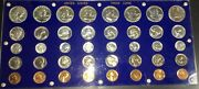 1954-1961 40 U.s. Proof Coins Full Set Uncirculated Holder Silver Bronze
