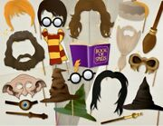 Harry Potter Photo Props Kit Ready Made Wizards Mythical Birthday Party Event