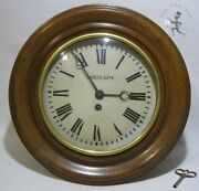 Paul Buhre 1914 Lenzkirch Mechanical Round Wooden Wall Clocks Grandfather Old