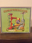 Vintage Wind Up Elephant With Ball Game
