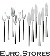 Villeroy And Boch Piemont Fish Cutlery 12 Piece 18/10 Stainless Steel 1st Choice