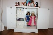American Girl Dolls, Bitty Babies And American Girl Doll Room Furniture Used