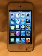 Apple Ipod Touch 4th Generation White 8 Gb Cracked Screen - 1