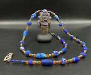 A Beautiful Old Necklace With The Human Figure Pendant Made Of Lapis Antique