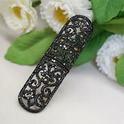 71x9 Mm Natural Black Diamond 925 Sterling Silver 14k Gold Armor Knuckle Ring