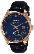 Seiko Menand039s Kinetic Srn062 Rose-gold Stainless-steel Fashion Watch