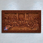 ❤️️last Supper Lord`s Supper✅wood Carved 3d Artwork Picture Icon