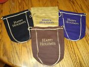 Lot Of 4 Crown Royal Happy Holidays Bag Maple Black Reserve Christmas Gift 750ml