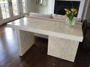Handmade Natural Bone Inlay Plain Fitted Desk Table Office Table