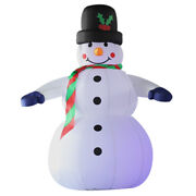 Inflatable Snowman Christmas Decoration With Top Hat For Indoors And Outdoors