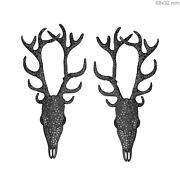 Sterling Silver 4.5ct Natural Diamond Pave Reindeer Earrings 14k Gold Jewelry Oy