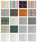 Ambesonne Waterproof Fabric By The Yard Upholstery Home Accents Decor